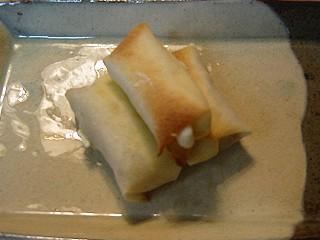 クリームチーズ&バナナのはるまき